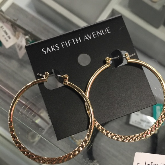 Gold Plated Sterling Hoop Earrings with Texture